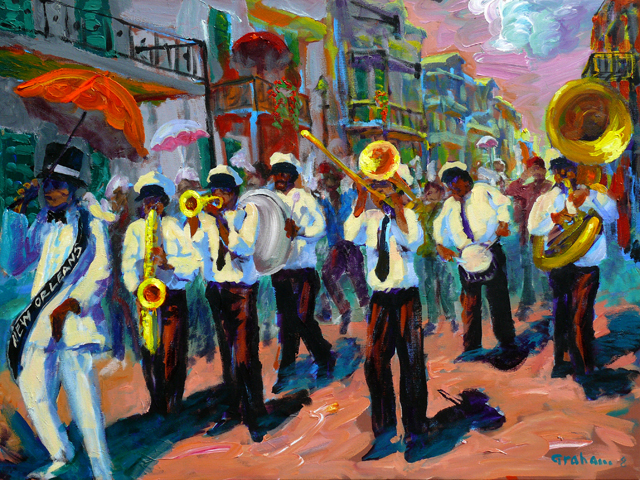 new orleans funeral procession painting