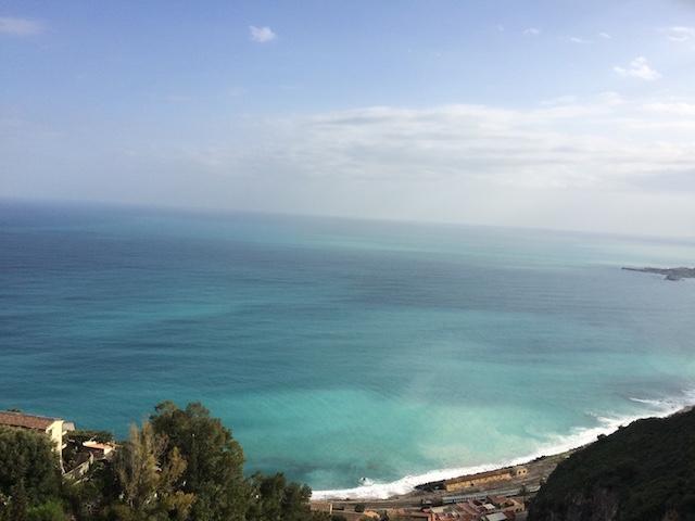 Mediterranean coastline in Italy