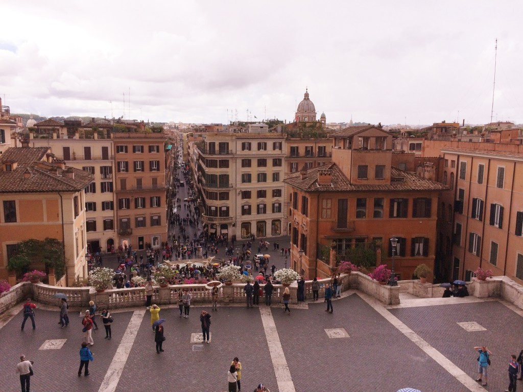 The top of the Spanish Steps in Rome.