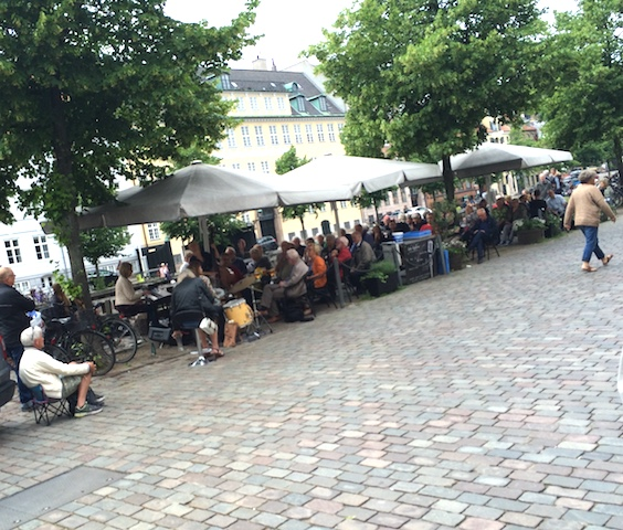 outdoor cafe in Sweden