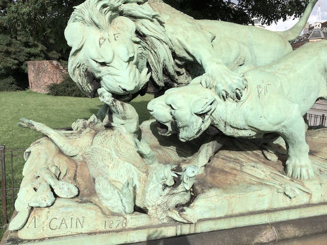 statue of lion in Sweden