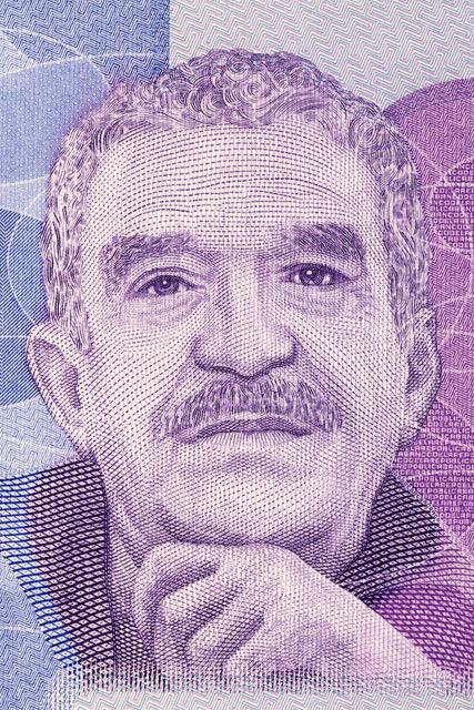 Colombian author Gabriel Garcia Marquez