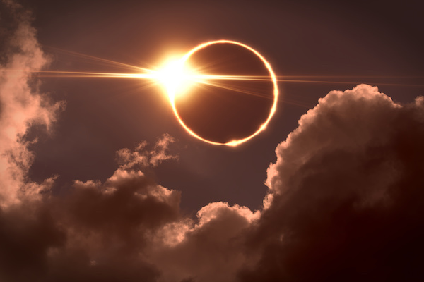 An eclipse symbolizing our shadows as explained by Carl Jung